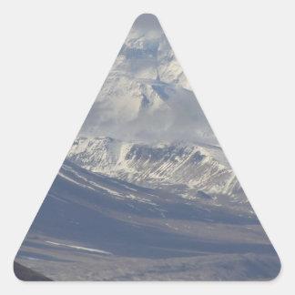 Montaña nevada en el fondo calcomanías de trianguladas