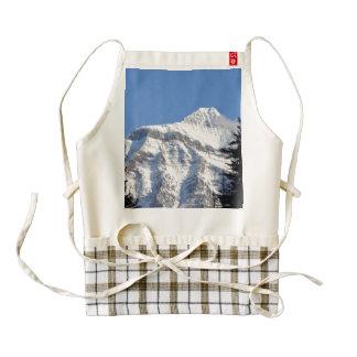 Montaña Nevado Delantal Zazzle HEART
