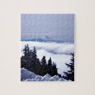 Montaña nublada puzzles