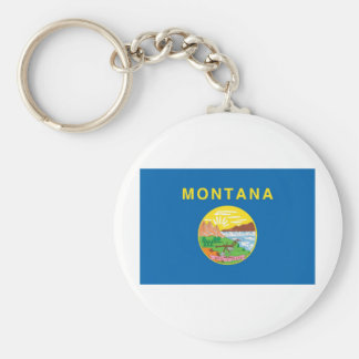 Montana  Official State Flag Keychain