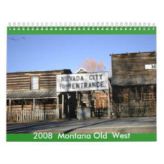 Montana Old West. Wall Calendar