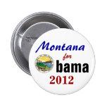 Montana para Obama 2012 Pins