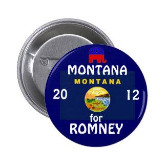Montana para Romney 2012 Pin Redondo De 2 Pulgadas