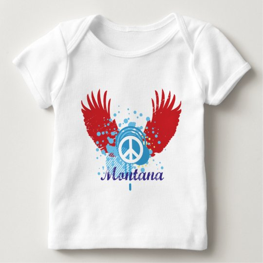 Montana Peace Sign Baby T-Shirt