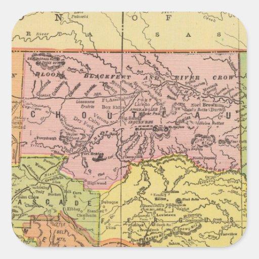 Montana Pegatina Cuadrada