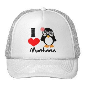 Montana Penguin - I Love Montana Trucker Hats