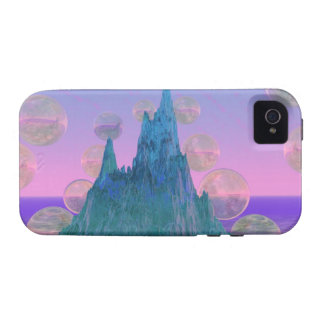 Montaña poética, rosa mágico abstracto del trullo iPhone 4 carcasas