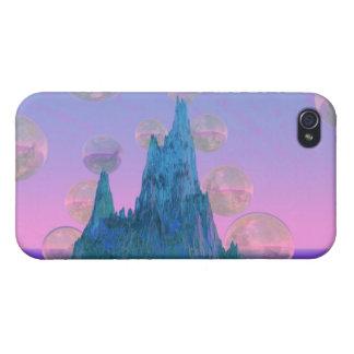 Montaña poética, rosa mágico abstracto del trullo iPhone 4 protectores