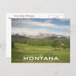 Montana Postcard postcard