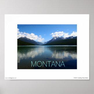 Montana Poster - Bowman Lake