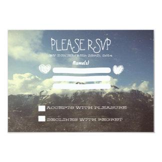 """montaña que casa las tarjetas de RSVP Invitación 3.5"""" X 5"""""""