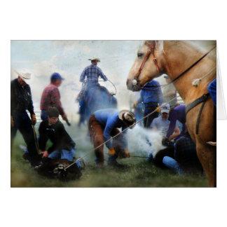 Montana Ranch Branding Card