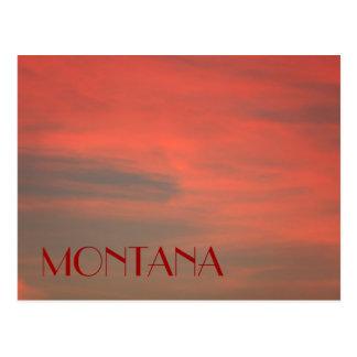 MONTANA Red Sky Postcard