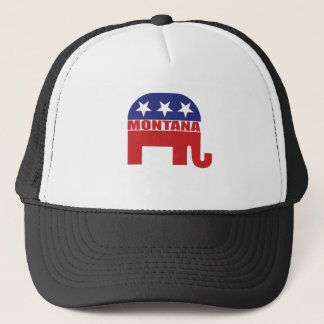 Montana Republican Elephant Trucker Hat