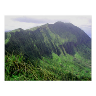 Montaña Ridge de Ko'olau Póster
