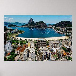 Montaña Río de Janeiro de Sugarloaf Póster