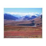 Montaña River Valley Impresión De Lienzo