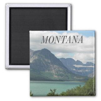 Montana Rockies Travel Photo 2 Inch Square Magnet