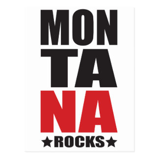 Montana Rocks! State Spirit Gifts and Apparel Postcard