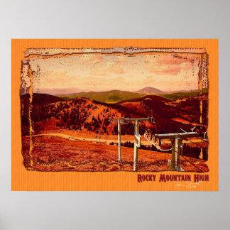 Montaña rocosa alta poster
