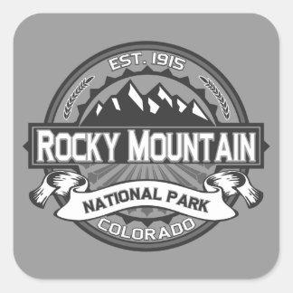 Montaña rocosa Ansel Adams Pegatina Cuadrada