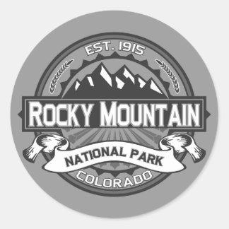 Montaña rocosa Ansel Adams Pegatina Redonda