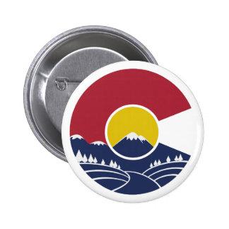 Montaña rocosa Colorado C Pin Redondo 5 Cm