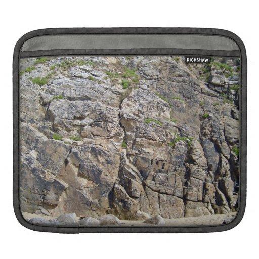 Montaña rocosa con textura de la hierba fundas para iPads