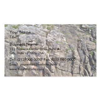 Montaña rocosa con textura de la hierba tarjetas de visita