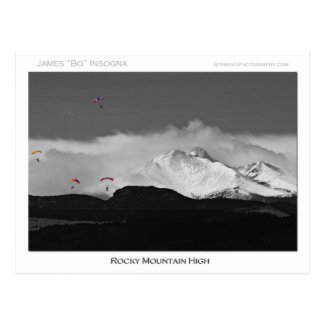Montaña rocosa de Colorado alta Postal
