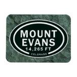 Montaña rocosa de Evans 14.265 pie Colorado del Imanes Rectangulares