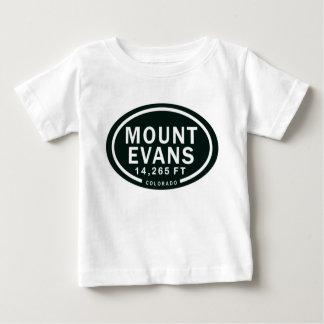 Montaña rocosa de Evans 14.265 pie Colorado del Playera De Bebé