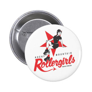 Montaña rocosa Rollergirls Pin Redondo De 2 Pulgadas