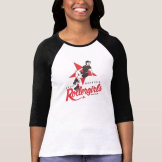 Montaña rocosa Rollergirls Playera