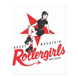 Montaña rocosa Rollergirls Postales