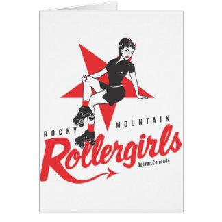 Montaña rocosa Rollergirls Tarjeta De Felicitación