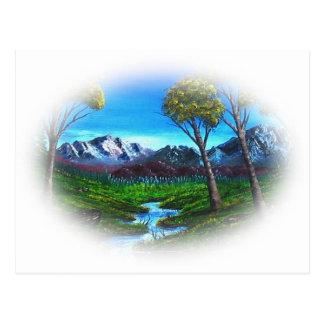 Montaña rocosa tarjeta postal