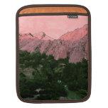 Montaña rosada funda para iPads