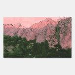 Montaña rosada rectangular altavoz