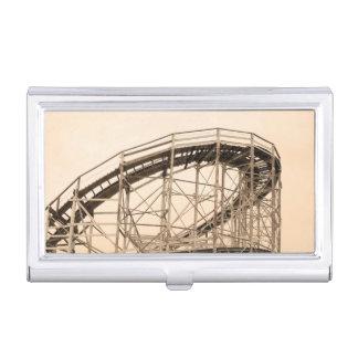 Montaña rusa de Coney Island Cajas De Tarjetas De Presentación