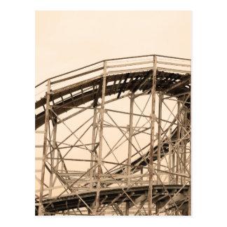 Montaña rusa de Coney Island Postales