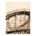 Montaña rusa de Coney Island Tarjeta Postal
