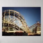 Montaña rusa del ciclón de Coney Island, pequeña Impresiones