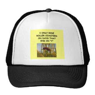 montaña rusa gorras