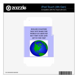 montaña rusa iPod touch 4G calcomanía