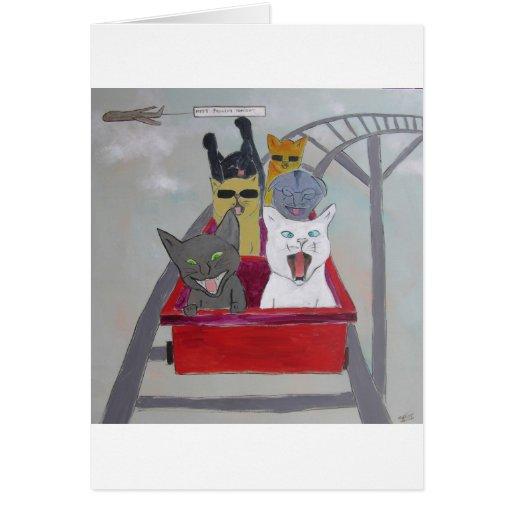 Montaña rusa tarjetas