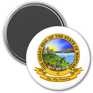 Montana Seal 3 Inch Round Magnet