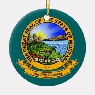 Montana Seal Ceramic Ornament
