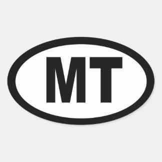 Montana - sheet of 4 oval car stickers