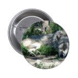 Montana Sleeping Wolf Button